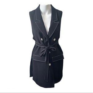 Michel Studio   Belted Blazer Vest